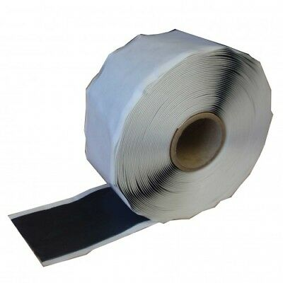 Double Sided Butyl Rubber Pond Liner / Roof Repair Tape Jointing 50mm x 10Mtr