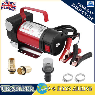 Portable 12V Diesel Fluid Extractor Electric Transfer Pump Car Fuel Auto 40L/min