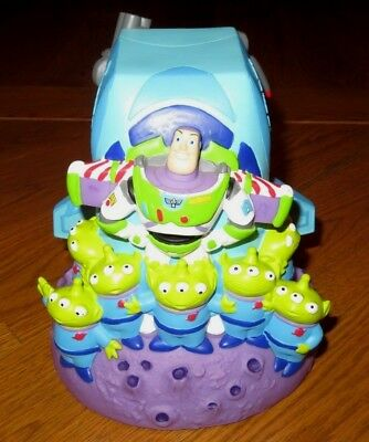 DISNEY Collectible TOY STORY Coin Bank BUZZ LIGHTYEAR/ZURG Spaceship ALIENS