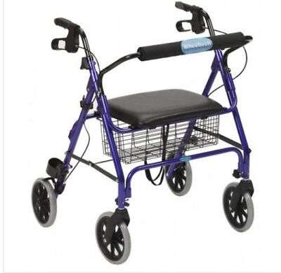 NEW IN BOX Rollator Wheeled Walking Aid Frame 4 Wheel Mobility Walker