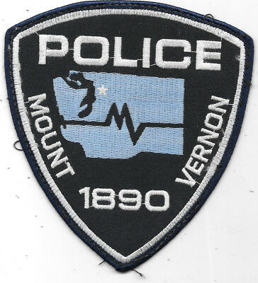 "Police Patch: Mount Vernon 1890 Police Patch New York 4 1/2"" X 4 1/2"""