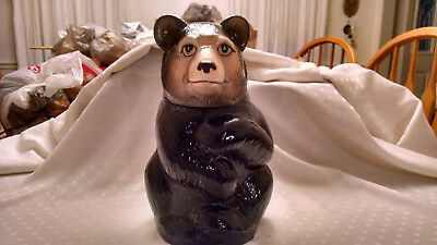 Vintage Eddie Bauer Ceramic Brown Bear Cookie Jar