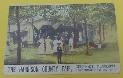 1910 Mississippi MS Gulfport Vintage postcard The Harrison County Fair
