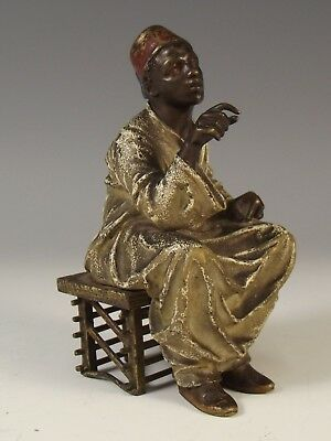 19th C. AUSTRIAN COLD PAINTED BRONZE – THE SCHOLAR