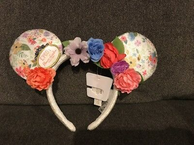 NEW Disney Parks 2018 Epcot Flower and Garden Minnie Mouse Flowers Ear Headband