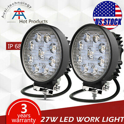 2Pc 48W LED Work Light Fog Lamp Truck OffRoad Tractor Spot Lights 12V 24V Square