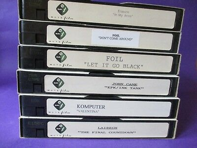 Foil ORIGINAL 1997 PROMO VHS VIDEO Don't Come Around Mute Films scottish indie