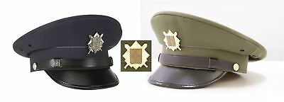 Czech Republic Military Nco Army Air Force Officers Peaked Cap With Badge
