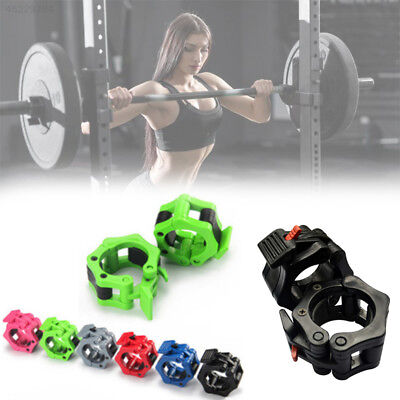 50mm Weight Bar Collar Clamp Lock Barbell Jam Snap Sports Accessory Random Color