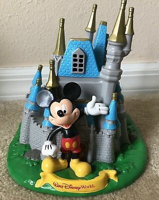 Walt Disney World Disneyland Mickey Mouse Cinderella's Castle Piggy Coin Bank