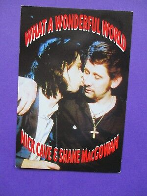 Nick Cave & Shane McGowan ORIGINAL PROMO POSTCARD What A Wonderful World pogues