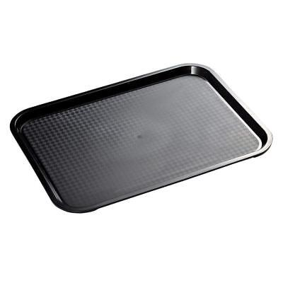 Black Colour Fast Food Plastic Tray for Restaurants, Canteen, B and B, Takeaway