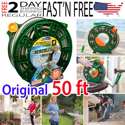 New 50 ft Hercules Hose Stainless Steel Flexible Garden Hose Heavy Duty NEW 100%