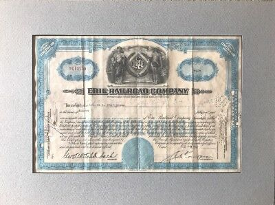 Vintage Erie Railroad & Reading Company Stock Certificates (2)