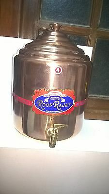 Copper Water Tank Copper water Pot with tap Health ayurveda Copper Water Pot