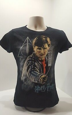HARRY POTTER DEATHLY HALLOWS T-SHIRT BLACK Size Small