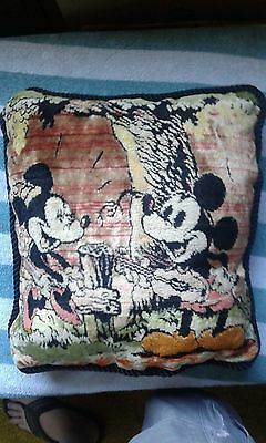 vintage 1930s disney mickey mouse pillow
