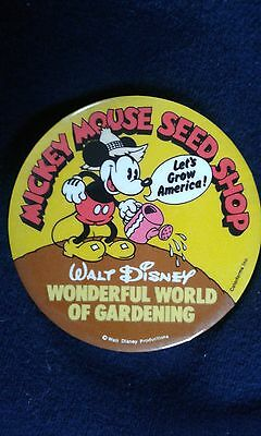 vintage disney mickey mouse pin back button