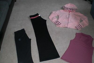 Lot of Lululemon Luon Groove Pants, Boogie Crops, Rare Hoodie and Tank sz 8