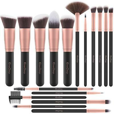 PENNELLI MAKE UP TRUCCO PROFESSIONALI - MANICO DI LEGNO - Eyeliner Ombretto Set