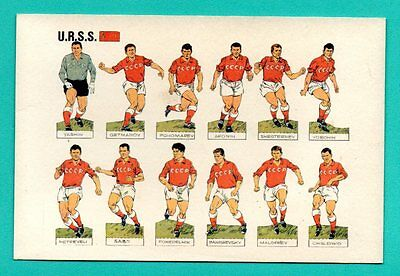 RUSSIA football team, with players names VINTAGE POSTCARD 165