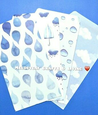 New! Letter Writing Paper Envelopes Set, 💦 Raindrops 💦