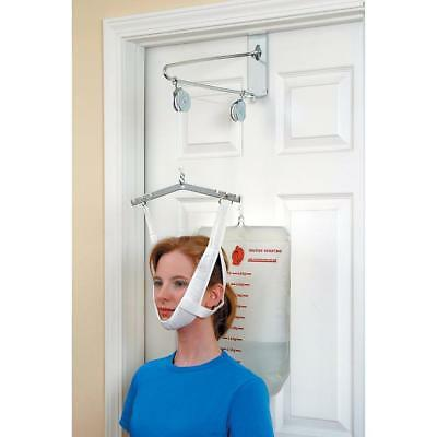Alex DME Over-Door Traction Unit Cervical Traction With 20 Lb Vinyl Water Bag
