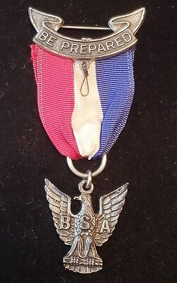 Boy Scout Eagle Scout Award Medal STANGE 3 Ribbon Pin Rank Insignia GEM!
