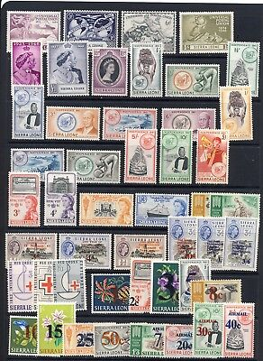 Sierra Leone mnh vf sets with Silver Wedding from 1948-1965 on 3 pages 152.00