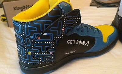 New Limited Edition Retro KOS Shoes Premium Leather Size US 8-12 Pacman Sneakers