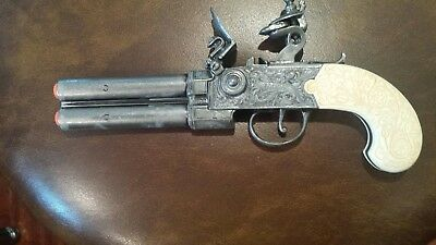 "Denix Replica Colonial ""London"" Double Barrel Flintlock Pistol- NON-FIRING"