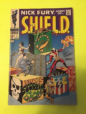 Nick Fury Agent Of Shield #1 - Autographed By Jim Steranko