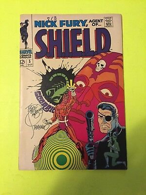 Nick Fury Agent Of Shield # 5 - Autographed