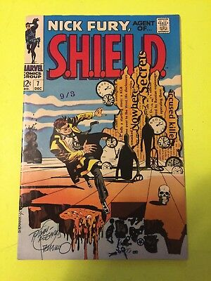 Nick Fury Agent Of Shield # 7 - Autographed