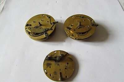 Antique Verge pocket watch movements for spares or repair