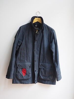 Paul Smith X Barbour Bedale Waxed Cotton Jacket Blue Large Limited Rare