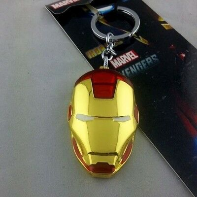 Iron Man Metallo Portachiavi  Keychain Marvel Avengers Tony Stark Vendicatori