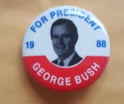 George Bush for President 1988 Campaign Button
