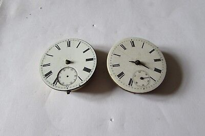 Fusee pocket watch movement and barrel lever both with good balances.
