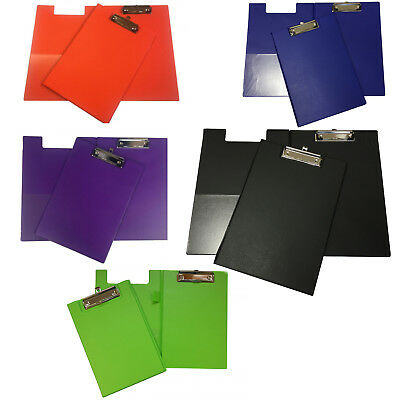 Janrax Foldover PVC Clipboards - Coloured Filing Clip Board