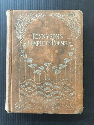antique Very Old TENNYSON'S POEMS COMPLETE Edition Volume 1 D87