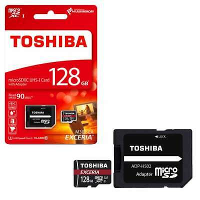 128GB Toshiba EXCERIA M302 4K 90MB/s Micro SD class 10 With Adapter ( NEW)