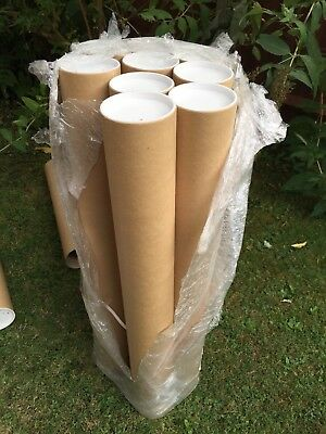 9 x A0+ 891mm LONG x 101.6mm DIAMETER Postal Tubes Posting Posters Prints + Ends