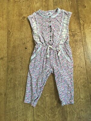 Next Girls Ditsy Floral Print Playsuit, All In One Jumpsuit 9-12 Months