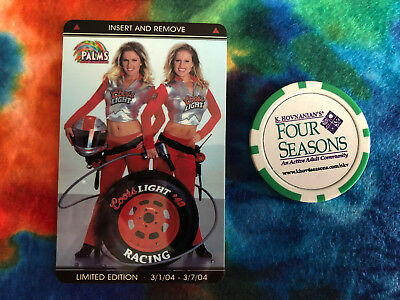 Palms Hotel & Casino Coors Light Racing Girls Limited Edition Room Key