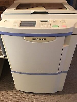 Riso RP3700 RP 3700 Printer Duplicator Black Blue Color Drum