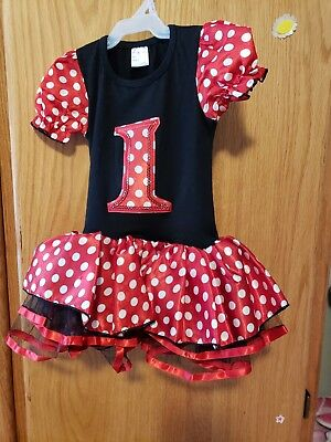 Mini mouse size Smalk dress for 1st birthday