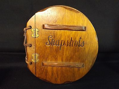 Vintage Rustic Wooden Snapshots Album. Unique and Cool as Can Be.