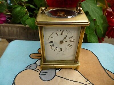 French 8 Day Carriage Clock . Perfect Working Order .