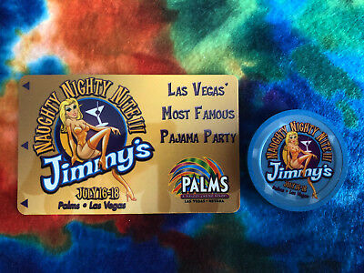 Palms Hotel & Casino Jimmy's Naughty Nite III 2004 Ltd Edition Room Key & Chip